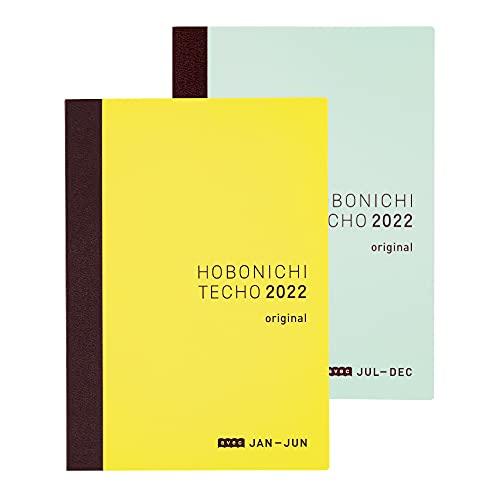 ほぼ日手帳 2022 手帳本体 オリジナル avec(1月はじまり)[月曜はじまり、分冊版(前期+後期セット)] A6サイズ