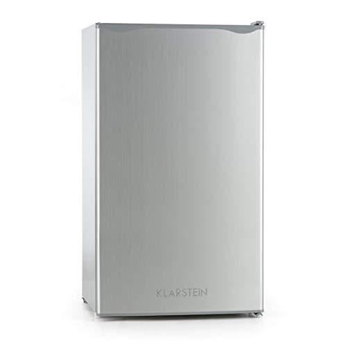 Klarstein Alleinversorger - Standkühlschrank, Kühlschrank, 90 L, 82 cm hoch, 7 L Eisfach, Gemüsefach, Edelstahltür, Türanschlag wechselbar, silber