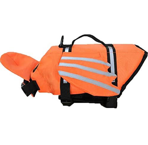 Chaleco salvavidas para perro con diseño de alas, chalecos salvavidas ajustables con rayas reflectantes y mango de rescate chaleco de seguridad para piscina playa o barco
