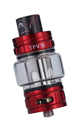 Smok TFV18 Tank Clearomizer, 7,5ml, Top-Filling, Subohm-fähig, Smok Verdampfer für E Zigarette - Farbe: rot