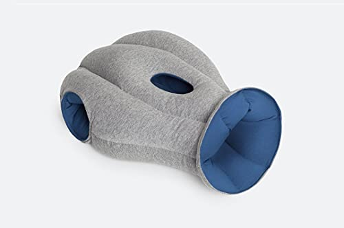 OSTRICH PILLOW ORIGINAL Travel Pillow for Airplane Flying - Travel Accessories for Head Support, Gift for Power Nap on Flight and Desk - Sleepy Blue