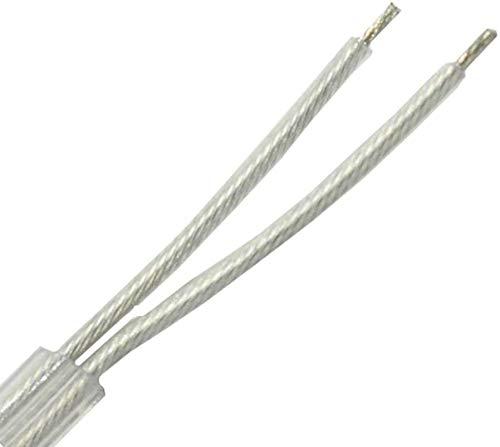 3m Kabel transparent 2x0,75mm² 2G isolierte Leitung rund Leuchtenkabel Lampenkabel Strom-Kabel Rundkabel Adern gedreht