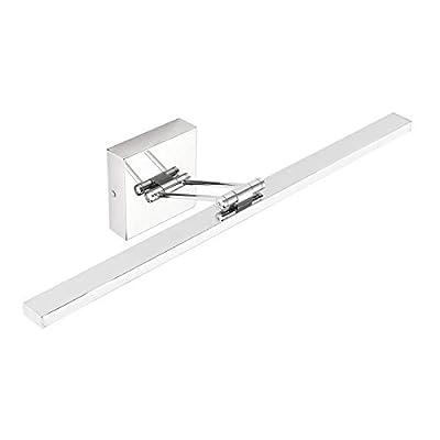 Ralbay LED Modern Vanity Light 31.5 inch 16W Rotable 180° Modern Bathroom Vanity Light Fixtures Stainless Steel Modern Bathroom Vanity Light 5500K~6000K Cool White Light