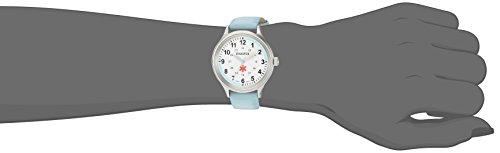 Dakota Nurse Women's Watch 36mm Military Dial Water Resistant with Light Blue Leather Strap, Nursing, Medical Watch, Scrub Watch