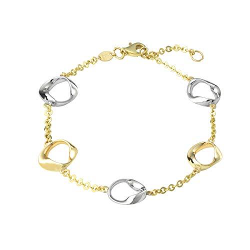 amor Armkette für Damen, Gold 375 bicolor