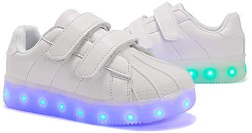 LED Schuhe Kinder 7 Farbe USB Auflade Leuchtend Sportschuhe, Kinder Jungen Mädchen Unisex Multi-Color-Blink LED Sneaker