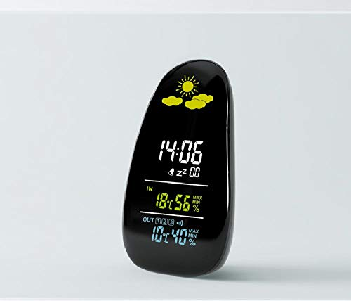 Despertador despertar Creatividad guijarros radio LED multifunción inducción tiempo electrónico reloj de escritorio