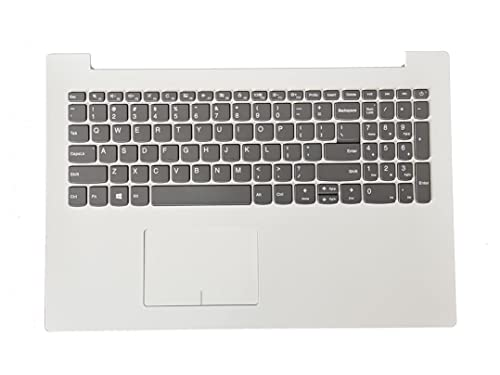 Replacement for Lenovo Ideapad 320-15 320-15IAP 320-15AST 320-15ISK 320-15IKB White US Keyboard Palmrest Upper Case & Touchpad