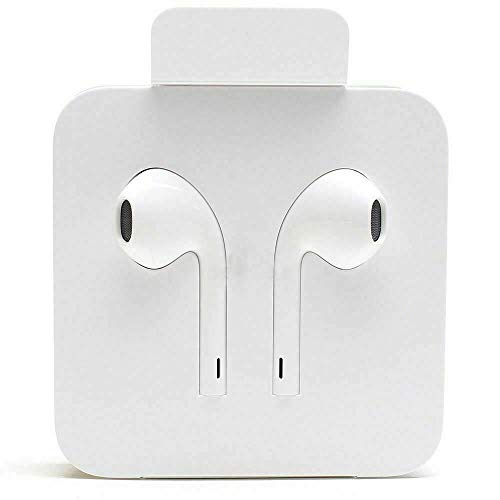 Apple Lightning Headphones for iPhone 7, 8, Plus and X with Microphone and Built in Remote, EarPods with Lightning Connector MMTN2ZM/A - White
