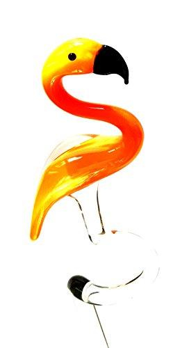 Flamingo oranje orchideeënstaaf - rangschikking hulp bloemen steun van glas met figuur - vogel decoratie tuin bloemen