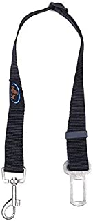 EZ-PET Car Seat Belt Clip for Pets (1 or 2-Pack) (Black)
