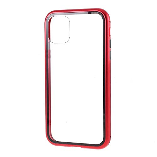 Best Shopper - Magnetic Adsorption Metal Frame Tempered Glass Phone Cover Case for Apple iPhone 11 Pro Max 6.5'' - Red