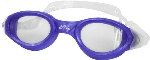 Aqua Speed® Schwimmbrille Pacific Goggle, 100% UVa/UVb, Antifog, Farbe:Blau