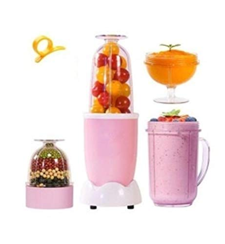 LNLW Multi Electric Juicer Mini Volautomatische huishoudelijke Blender Machine Smoothie Maker, Small Travel Blender - Shakes, smoothies, Babyvoeding (Color : Pink)