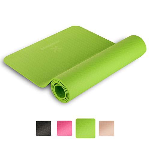 BODYMATE Tappetino da Yoga Premium TPE Dimensioni 183x61cm – Spessore 6mm – Privo di Sostanze Nocive, Ftalati, BPA e Metalli Pesanti Certificato da SGS – Fitness, Pilates, Allenamento Funzionale