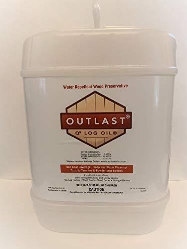 Outlast Q8 Log Oil 5 Gallon Pail Natural Base