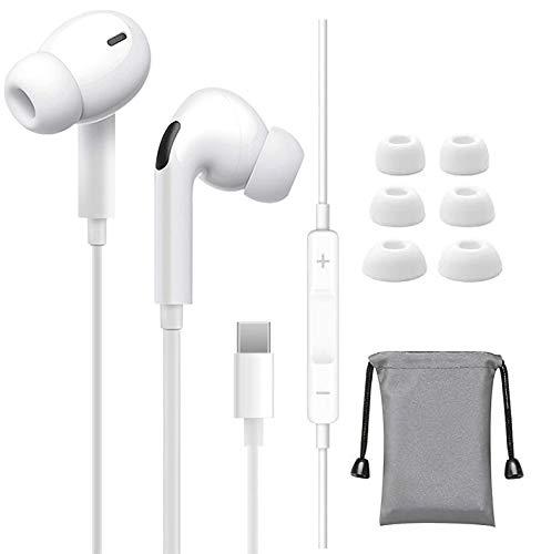 Auriculares con Cable estéreo de Alta fidelidad USB Tipo C con Cable Auriculares Deportivos con Cancelación de Ruido Micrófono y Control de Volumen para Samsung,OnePlus 6T,Xiaomi,Huawei,iPad Pro 2018