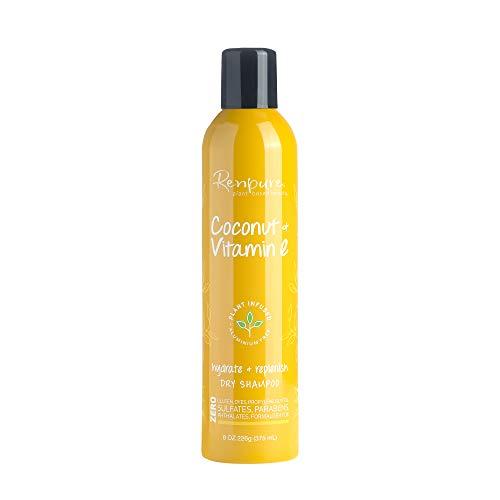 Renpure plant-based Beauty Coconut & Vitamin E Hydrate + Replenish Dry Shampoo, 8 Oz
