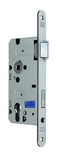 BKS Standard Zimmer Türschloss für Profilzylinder 55/72/8, Stulp: 20 x 235mm abgerundet, DIN Rechts incl. SN-TEC® Montageset