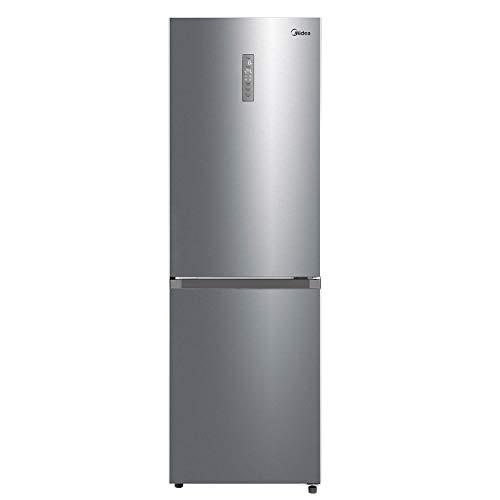 Midea MERB345MGE02 Kühl-/Gefrierkombination/185,8 cm hoch / 59,5 cm breit / 256 kWh/Jahr/216 L Kühlteil/ 122 L Gefrierteil/No Frost/Twin Control/mit Chiller Box, Front Inox