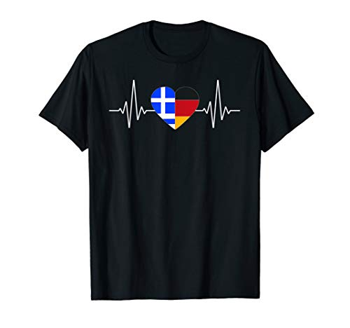 Deutscher und Grieche Griechisch Hellas Fahne T-Shirt