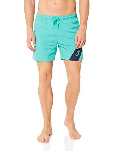 Calvin Klein Medium Drawstring Short, Vert (Atlantis LA5), X-Large Homme