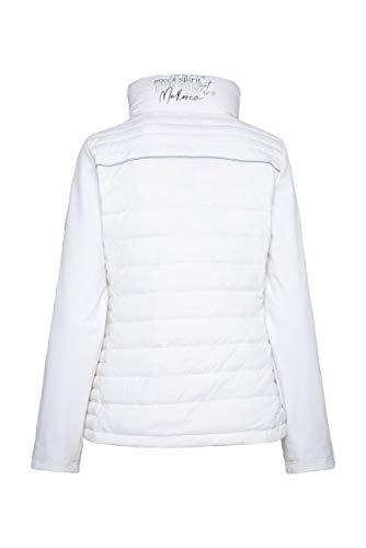 SOCCX Damen Jacke im Materialmix mit Kapuze