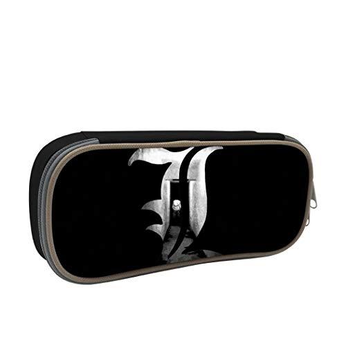 Death Note Federmäppchen, großes Fassungsvermögen, für Make-up-Stifte, langlebig, mit Doppelreißverschluss, Stifthalter für Schule/Büro Einheitsgröße Schwarz