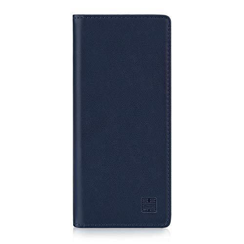 32nd Klassische Series - Lederhülle Hülle Cover für Sony Xperia L3, Echtleder Hülle Entwurf gemacht Mit Kartensteckplatz, Magnetisch & Standfuß - Marineblau