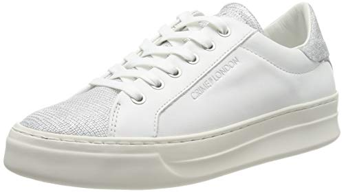 Crime London Damen 25605PP1 Sneaker, Weiß (White 10), 39 EU