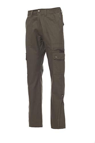 PAYPER USAIR Pantalone da Uomo multistagione Lavoro con Tasche Laterali Anteriori Posteriori Chiusura Zip 100% Cotone Caccia Softair Verde Army Militare (4XL, Verde Army)
