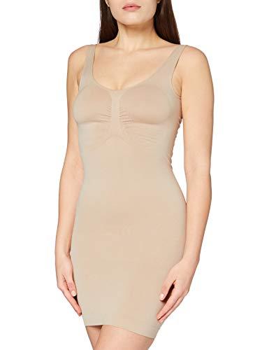 FM London Firm Control Dress Vestido Moldeador, Beige (Carne), 38 para Mujer