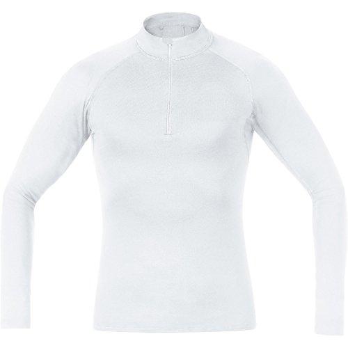 GORE Wear Atmungsaktives Herren Stehkragen-Unterzieh-Shirt, GORE M Base Layer Thermo Turtleneck, XL, Weiß, 100319