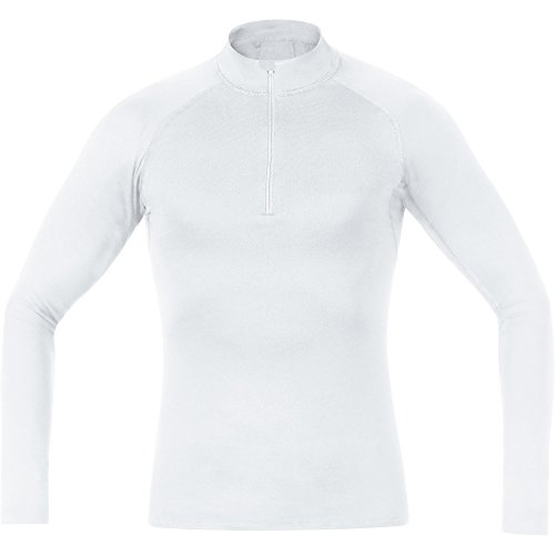 Gore Wear Heren Stand Kraag Basislaag Thermo Coltrui Shirt - Wit, Medium