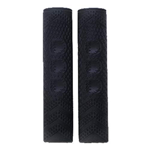 Almencla 1 Par de Cubiertas Protectoras de Silicona para Manijas de Freno de Bicicleta de Montaña - Negro, Los 2x8cm