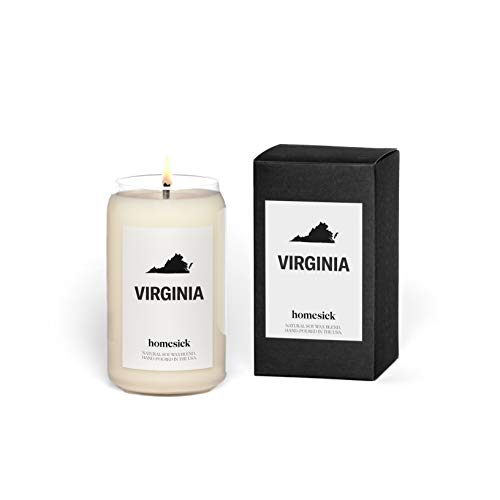 Homesick Scented Candle, Virginia - Scents of Fir Needle, Orange, Pine, 13.75 oz
