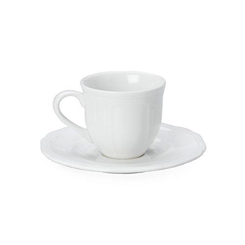 Mikasa Antique White Espresso Cup and Saucer Set