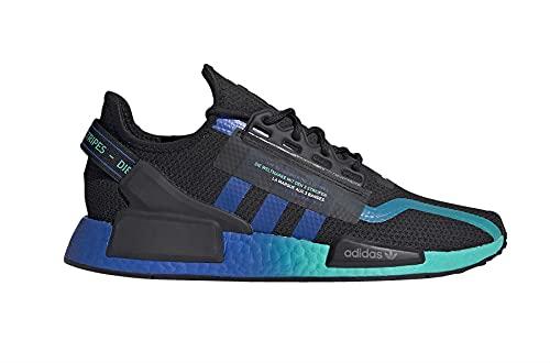 adidas Mens NMD R1 V2 Casual Shoes (Core Black/Aqua/Cloud White, 9)