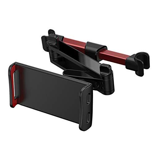 Gazechimp Soporte Flexible para Asiento Trasero de Coche, Soporte para Teléfono Móvil, Soporte para Tableta, Soporte de Montaje - Rojo