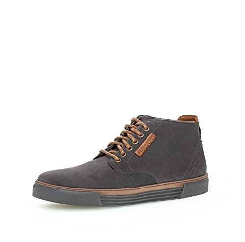 Gabor Pius Herren Sneaker high,Halbschuhe,zertifiziertes Leder,Wechselfußbett,Cut,Men's,Man,Men,Halbschuhe,straßenschuhe,dk.Grey,44 EU / 9.5 UK
