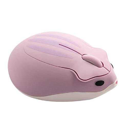 Ydh 2.4G inalámbrico óptico Creativo ratón Lindo hámster de Dibujos Animados de Dibujos Animados Ratones ergonómicos Mini 3D Mouse Bungee RGB