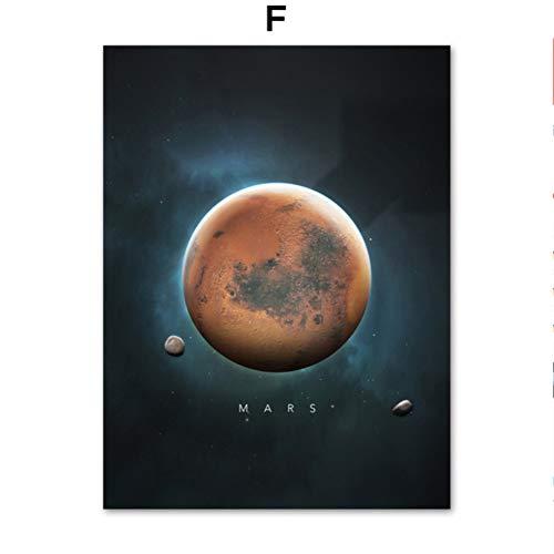 Milchstraße 10 Planeten Sonne Venus Saturn Mars Erde Pluto Wandkunst Leinwand Malerei Nordische Plakate und Drucke Wandbilder Für Wissenschaftsmuseum Wohnzimmer Dekor 30 * 40cm
