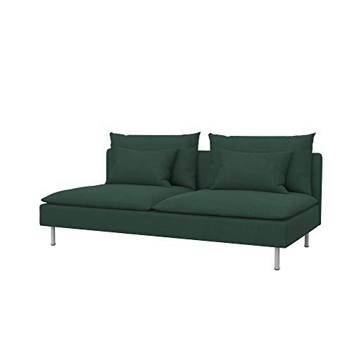 Soferia Funda de Repuesto para IKEA SÖDERHAMN sofá Cama, Tela Elegance Mineral, Verde