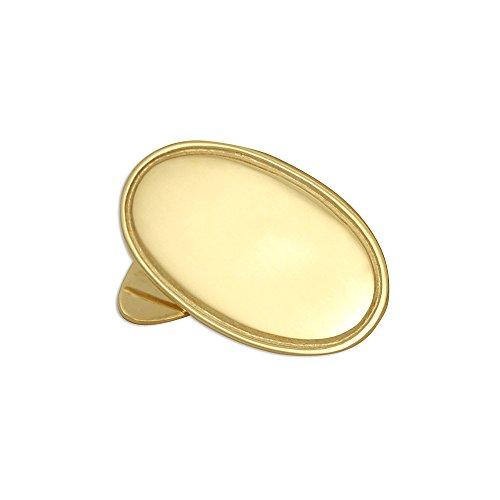 Sayers London 9 Karat Gelbgold klassische flache ovale Manschettenknöpfe