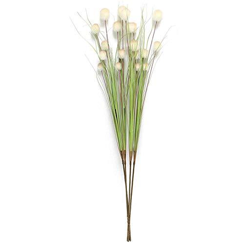SIDCO Dekobündel 4 x Gräser Grasbüschel Schilf Gras künstlich Pflanze Deko Ziergräser