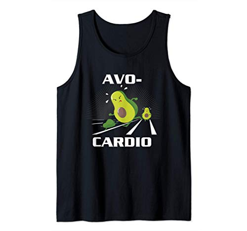 Avocardio Keto Low Carb Diet Avocado Pun Cardio Gym Workout Tank Top