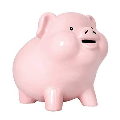 QWEA Piggy Bank - Pig Coin Money Bank, Hucha inastillable para niños, Creative Money Bank, Can Store, El Mejor Juguete de Regalo Bitrthday, (Color: Pink)