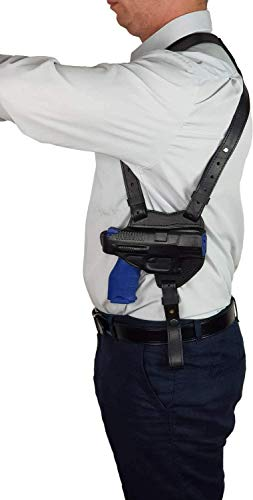VlaMiTex S7 Shoulder Leather Holster for Walther P99 / PPQ M2 / Smith & Wesson SW99 Black