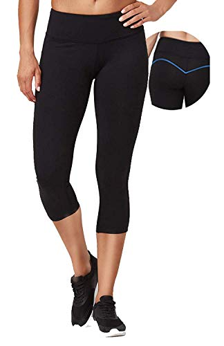 VUTRU Women's Yoga Capri Pants Tummy Control Workout Running Yoga Leggings