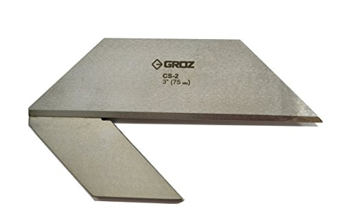 GROZ 3-inch Center Square | Made of Hard Spring Steel | Accurately Find The Center of Round and Cylinder Bars and Stocks | for Machinists and Tool Makers | Professional Grade (03522)